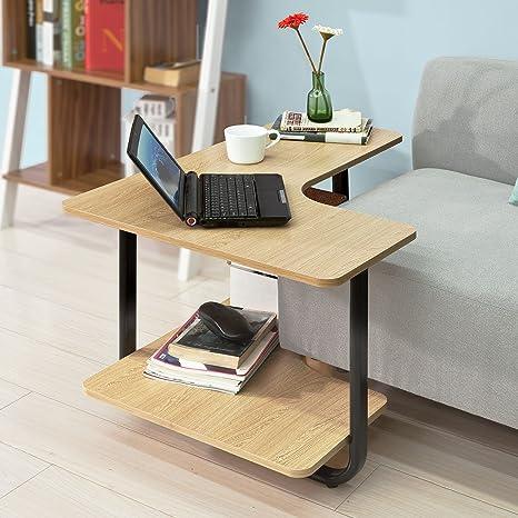 SoBuy Tavolo ad angolo del divano, Tavolino basso da soggiorno, con ...