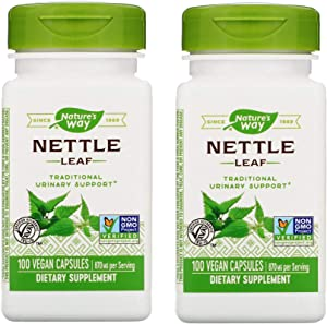 Nature's Way Nettle Leaf 870 Milligrams for Traditional Urinary Support as a Dietary Supplement (100 Vegan Capsules) Pack of 2