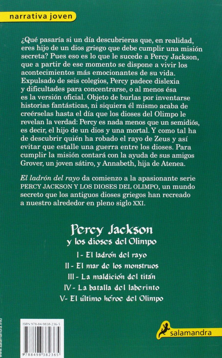 El ladrón del rayo: Percy Jackson y los Dioses del Olimpo I Narrativa Joven:  Amazon.es: Rick Riordan: Libros