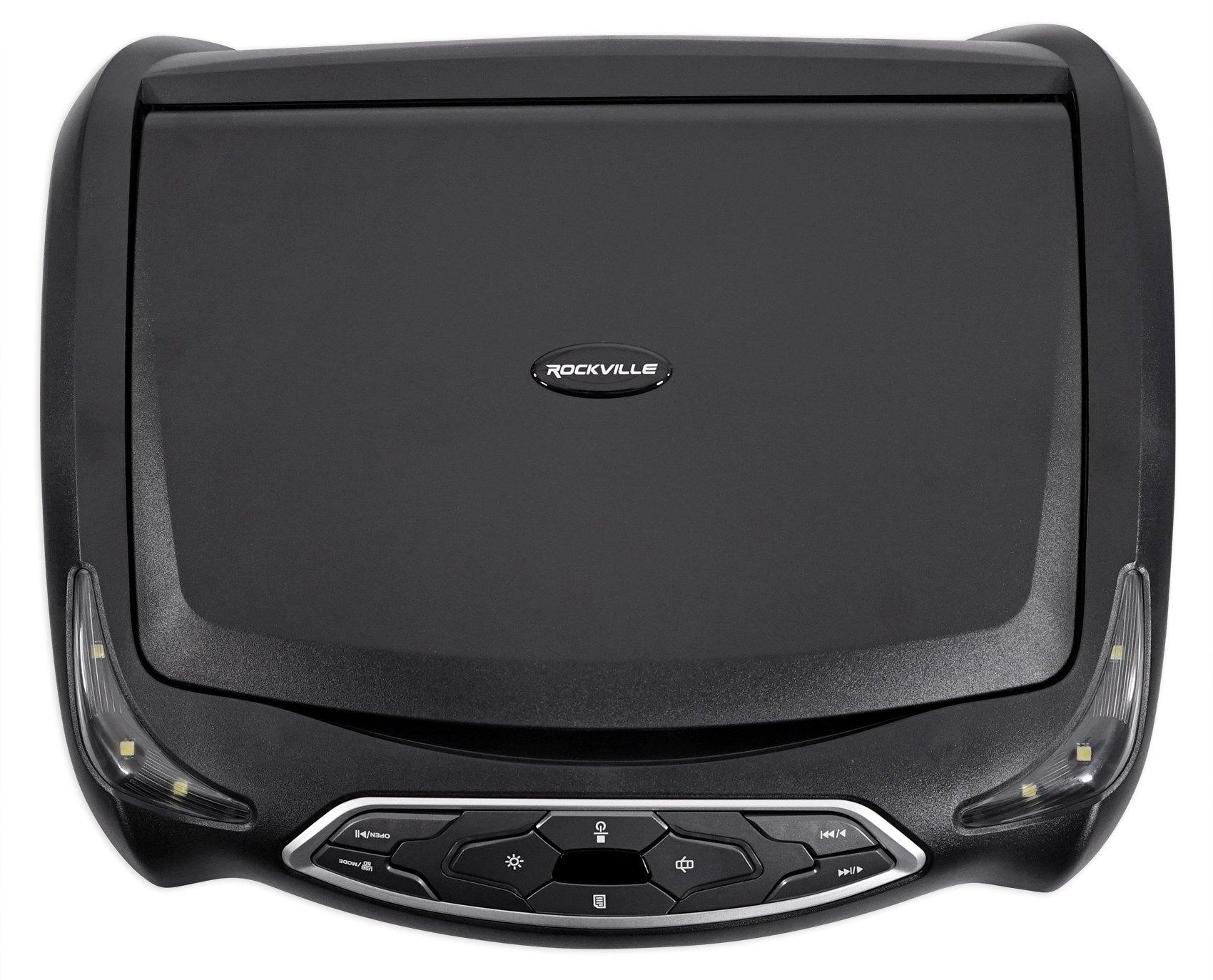 Rockville RVD14BGB Black/Grey/Tan 14'' Flip Down Car DVD Monitor+Games+Headphones by Rockville (Image #2)