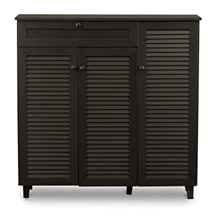 cb823ac91f0 Image Unavailable. Image not available for. Color  Baxton Studio Pocillo  Wood Shoe Storage Cabinet ...
