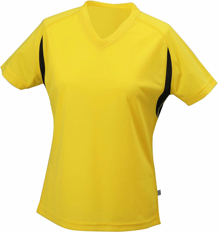 Ladies' Running-T Shirt/James & Nicholson (JN 316) S M L XL XXL gelb/fluo,M