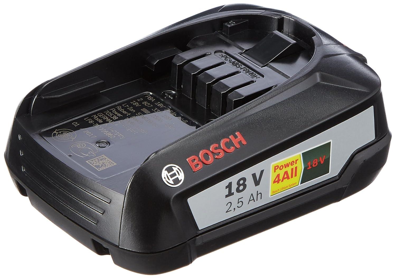 Bosch 1600A005B0 Battery Pack PBA 18V 2.5Ah W-B, 18 V, Green