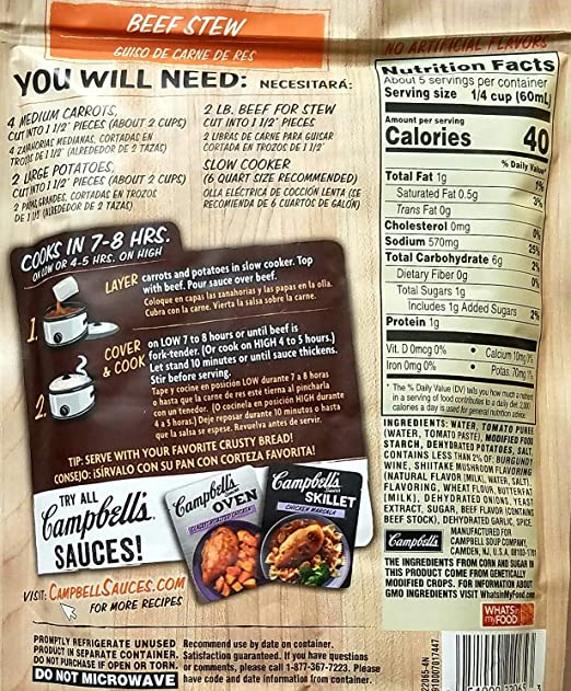 Amazon.com : Variety Pack Bundle of 6 Campbells Slow Cooker Sauces - Apple Bourbon Pulled Pork, Beef Stew, Buffalo Chicken, Hawaiian Pork, Southern BBQ, ...