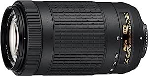 Nikon AF-P DX NIKKOR 70-300mm f/4.5-6.3G ED Australian Warranty Nikkor AF-P DX NIKKOR 70-300mm f/4.5-6.3G ED Lens, Black (JAA828DA)