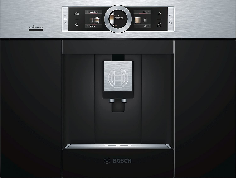 Bosch CTL636ES6 Integrado Totalmente automática Máquina espresso 2.4L Negro, Acero inoxidable - Cafetera (Integrado, Máquina espresso, 2,4 L, Molinillo integrado, 1600 W, Negro, Acero inoxidable)