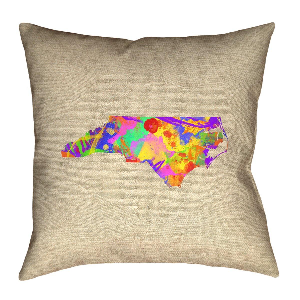 ArtVerse Katelyn Smith North Carolina Love Watercolor Pillow by ArtVerse (Image #1)