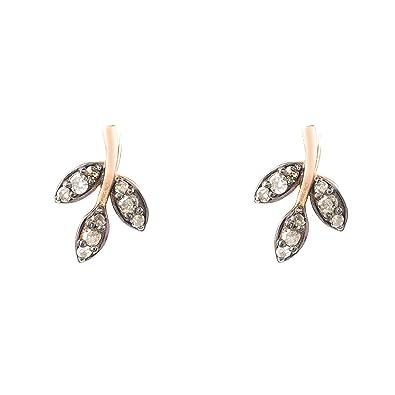 64fbfb8a469ee Latelita London Diamond Leaf Stud Earring: Amazon.co.uk: Jewellery