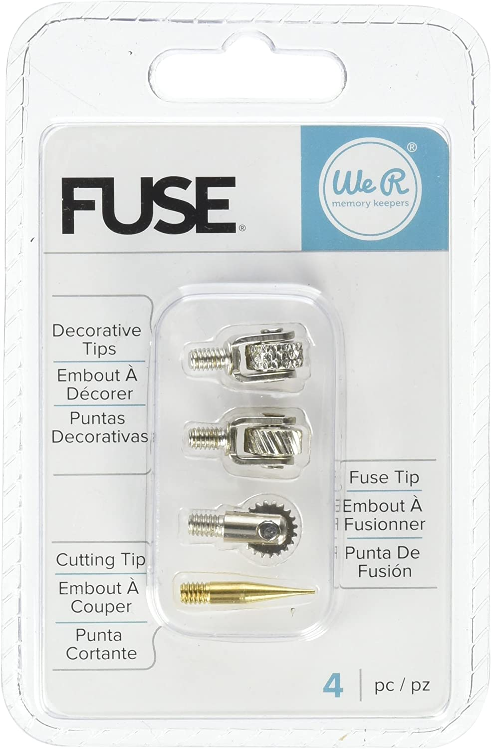 We R Memory Keepers 660870 Fuse Tool Tips Decorative Cutting /& Fusing Gold 4 Pack