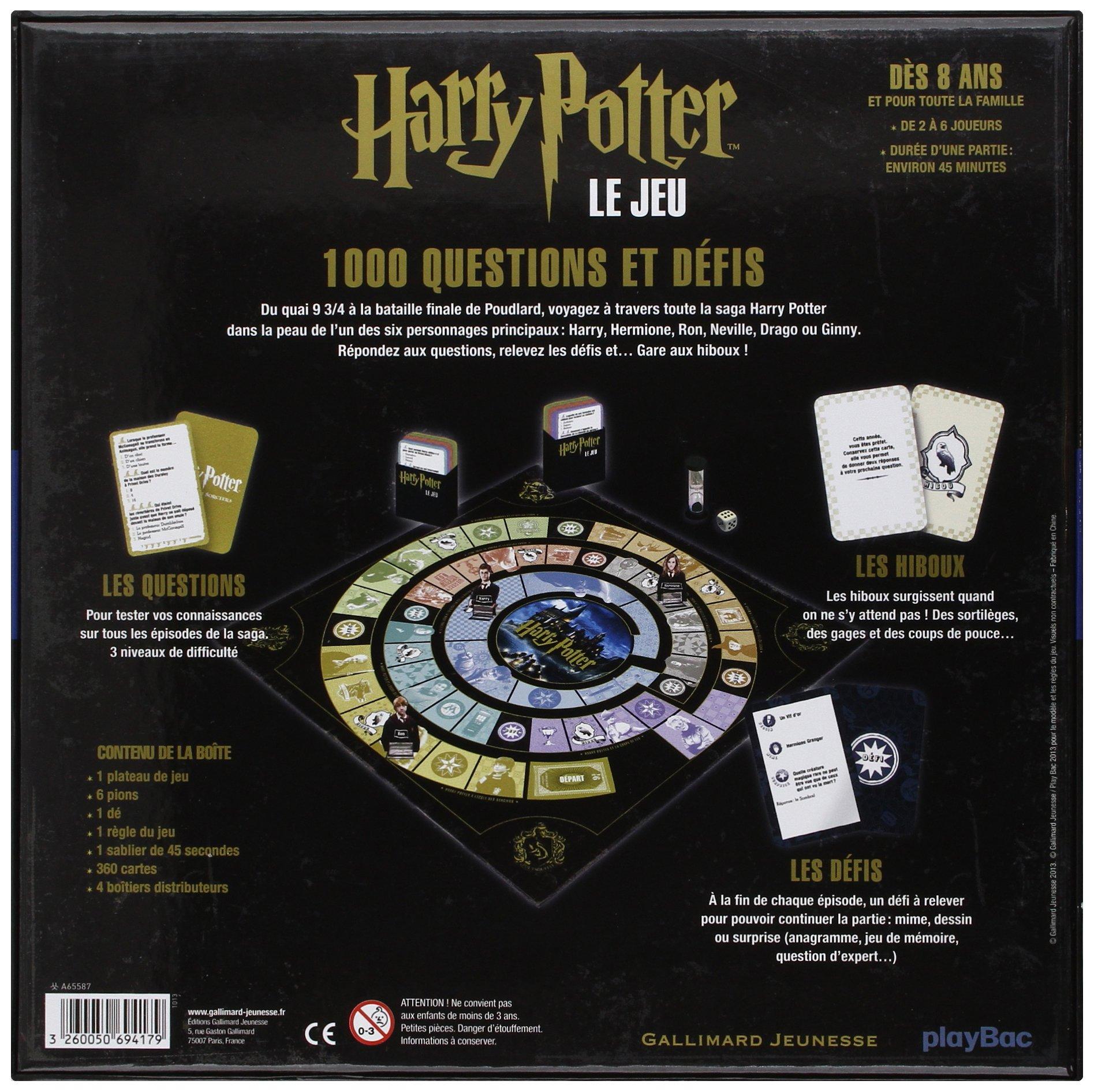 Harry Potter : Le jeu: 1 000 questions et défis ...