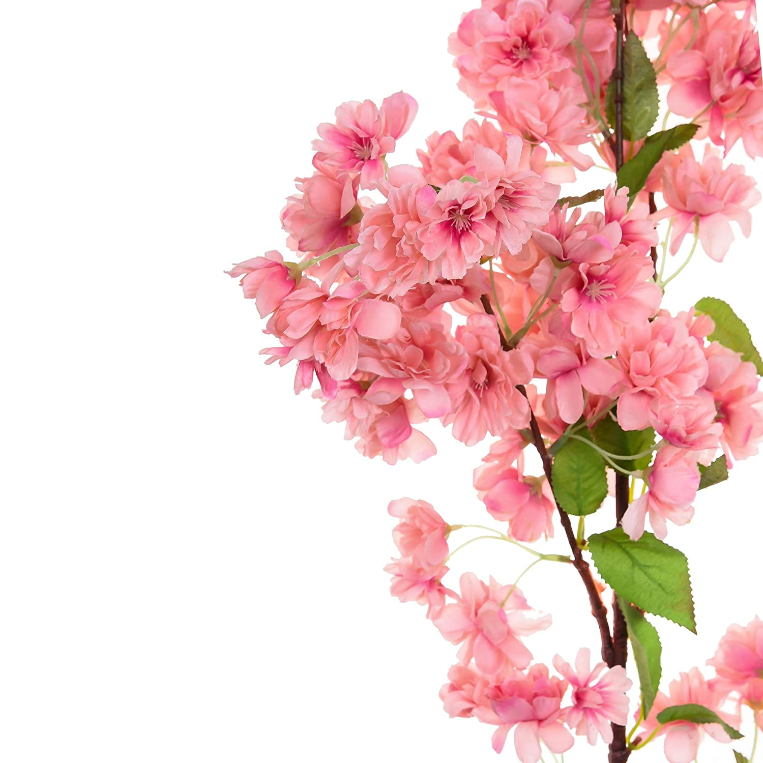 Buy Mei&Ge 40 Inch 4 Branches Dense Cherry Blossom Artificial Flowers Home Wedding  Decor (Peach) Online at Low Prices in India - Amazon.in