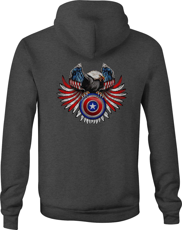 American Zip Up Hoodie Capt Shield Hooded Sweatshirt for Men