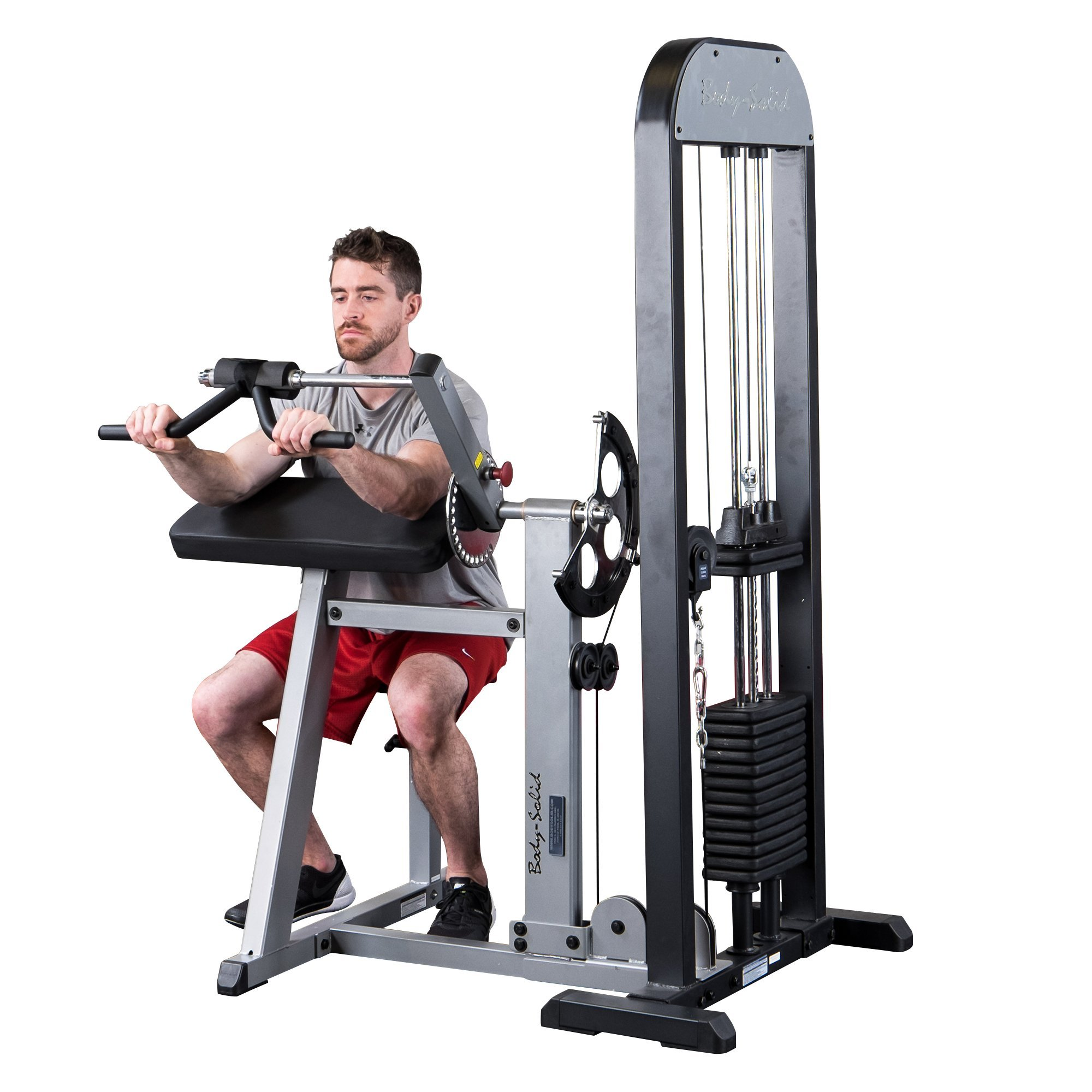 Body Solid GCBTSTK3 Pro Select Bicep/Tricep Machine with DuraFirm Padding and Multi-Grip Handle 310-Pound