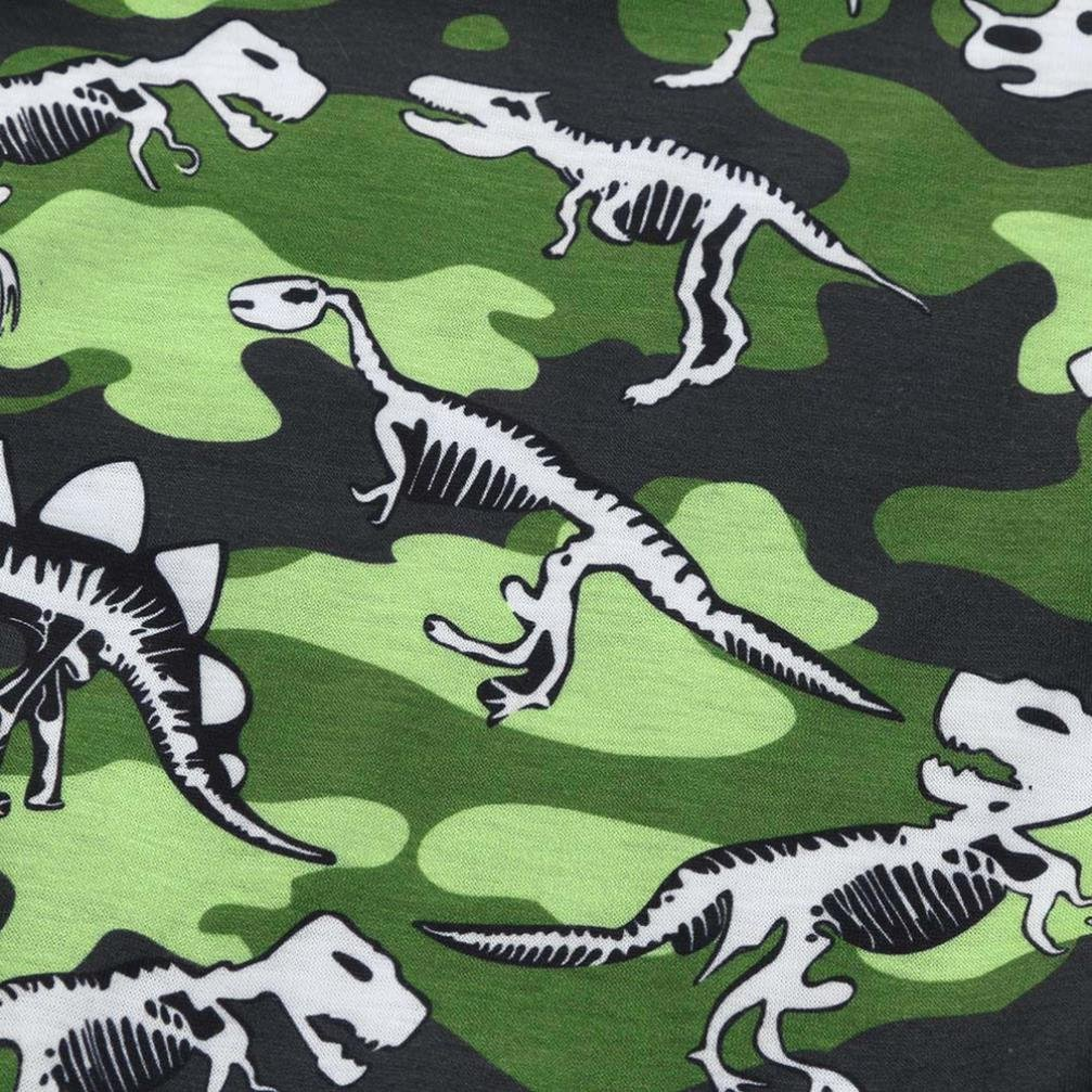 Fartido Newborn Baby Boys Girls Romper Camouflage Dinosaur Print Jumpsuit Outfits