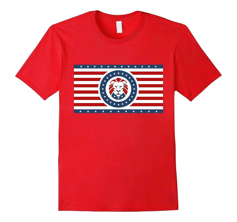 Trump Lion Party Flag T-Shirt-RT