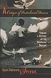 A Critique of Postcolonial Reason