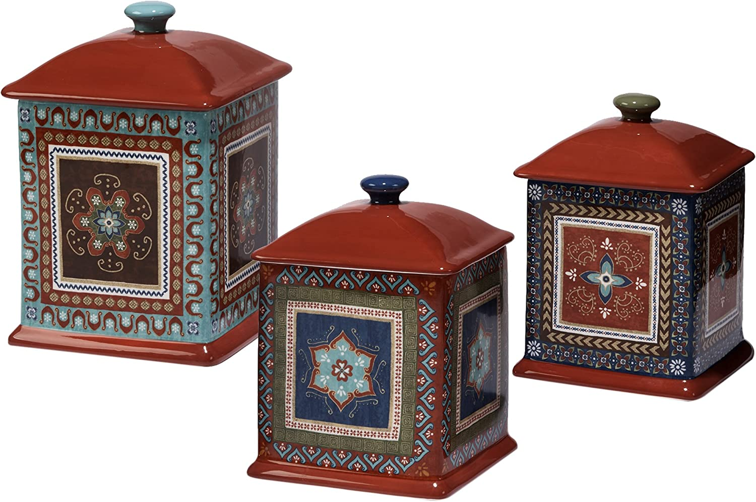 Multicolor Certified International 25630 4 Piece Mariachi Canister Set