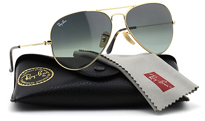 8200ce22c79fb ... sale ray ban rb3025 181 71 unisex aviator sunglasses gradient gold  frame grey e2587 1a0f1