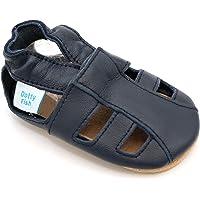 Dotty Fish Zapatos de Cuero Suave para bebés.