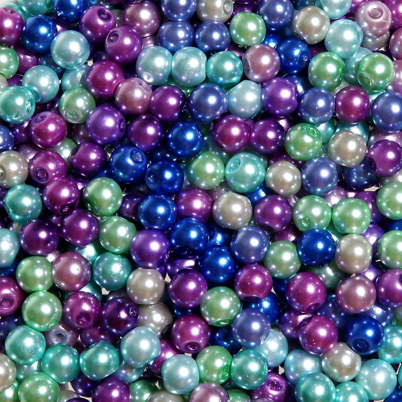 180-200 Stück Glas Splitter 6 x9 mm grün Perlen basteln Schmuck Perlen V19