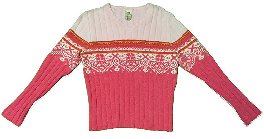 Faded Glory Women's V-neck Ugly Christmas Sweater Small Pink at ...