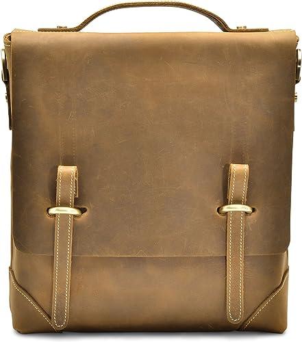 H lssen Satchel Messenger 11 Laptop iPad Genuine Leather Bag