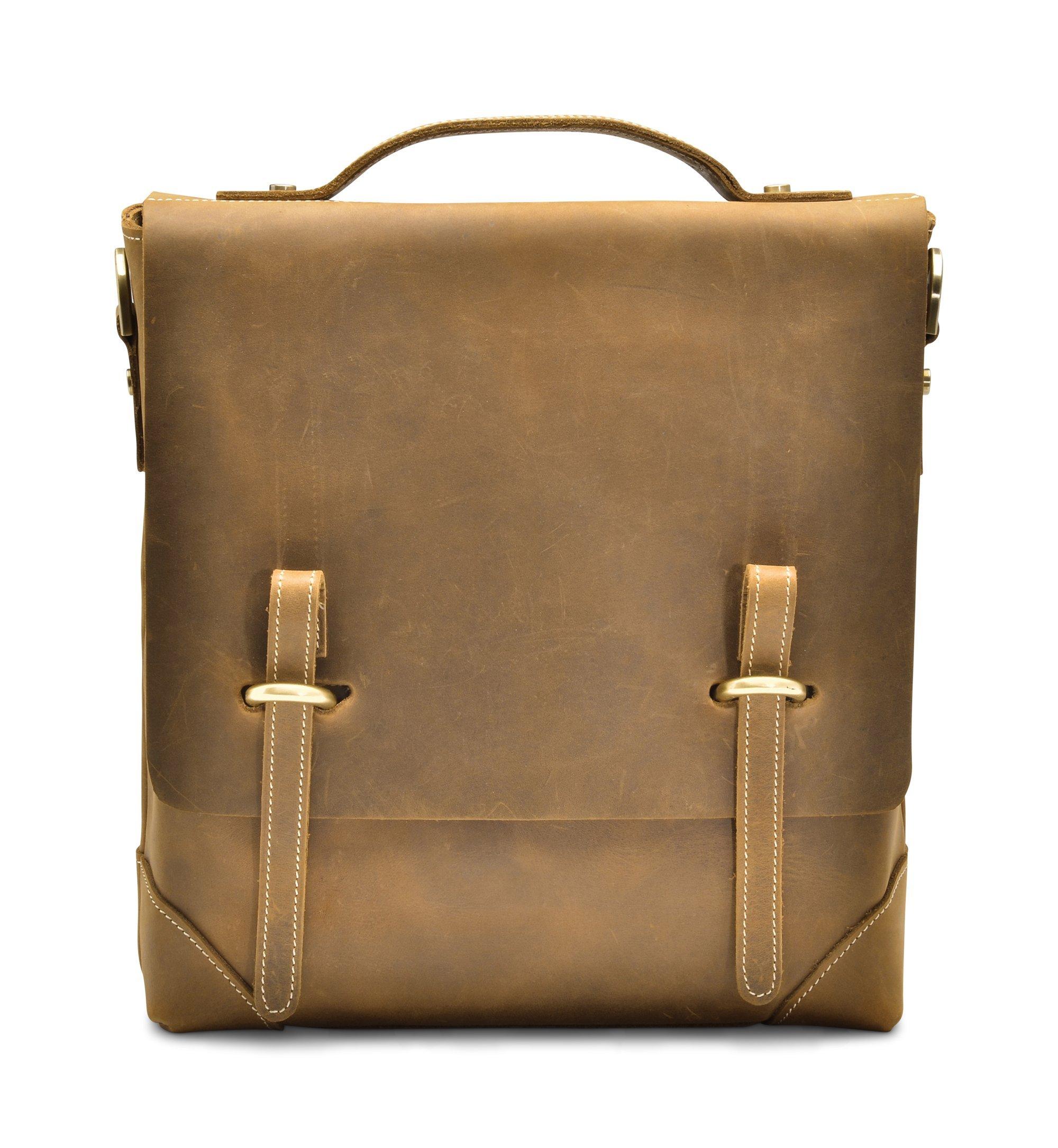 """Hølssen Satchel Messenger 11"""" Laptop iPad Genuine Leather Bag"""