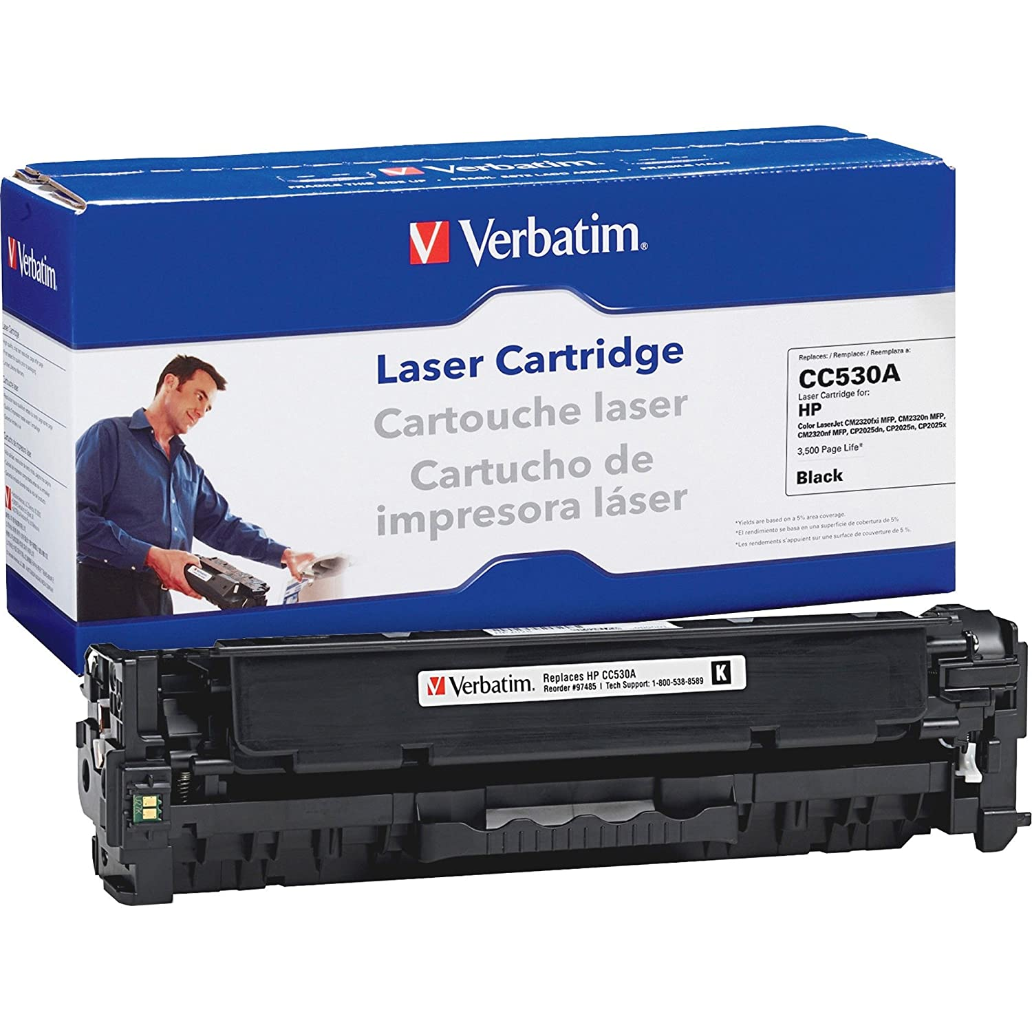 Amazon.com: Verbatim America, LLC 97485 Toner Cartridge ...