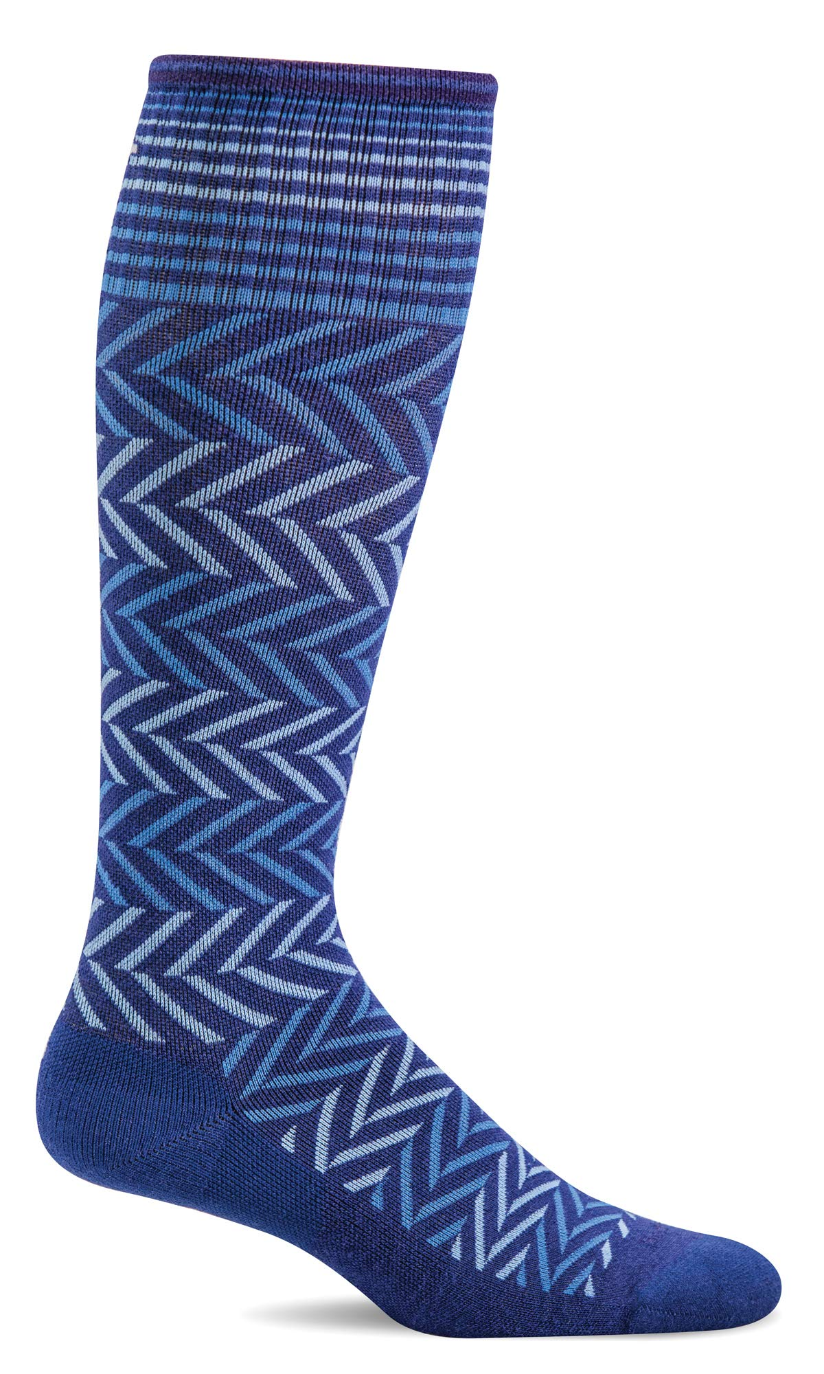 Sockwell Women's Chevron Moderate Graduated Compression Sock, Hyacinth - S/M by Sockwell