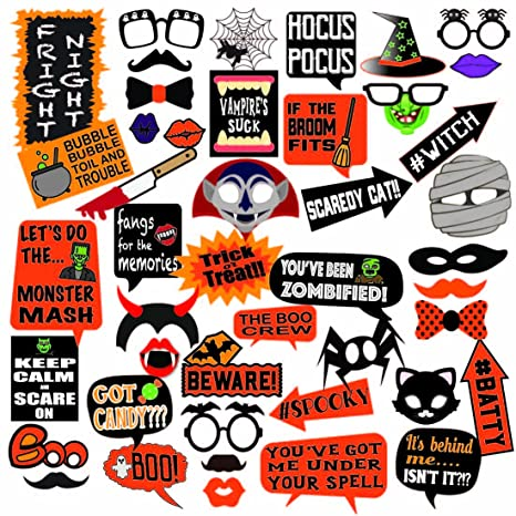 deluxe halloween photo booth prop set 45 extra large props fun for all ages
