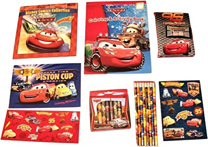 Disney Cars Stickers with Notebook