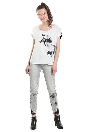 Shirt Et Horse 18wwtk58Vêtements Noir Desigual T WE2YDH9I