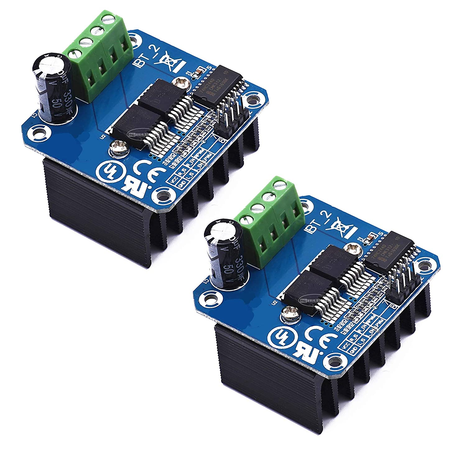 B07TFB22H5 2pcs BTS7960 43A High Power Motor Driver Module/Smart Car Driver Module for Arduino Current Limit 81PIPdnFlwL