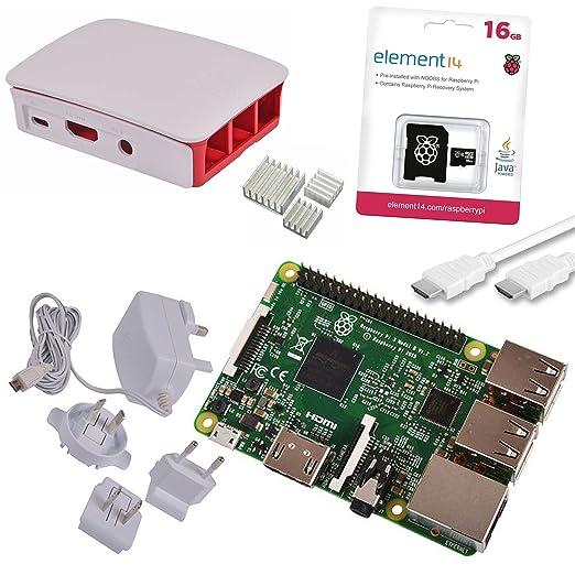 70 opinioni per Raspberry Pi 3 Official Starter Kit White con Alimentatore Ufficiale, Case