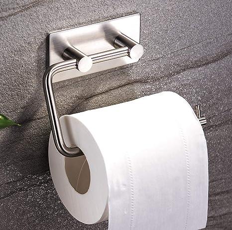 ZUNTO Portarrollo para Papel Higiénico, Acero inoxidable 3M Autoadhesivo Soporte para papel higiénic