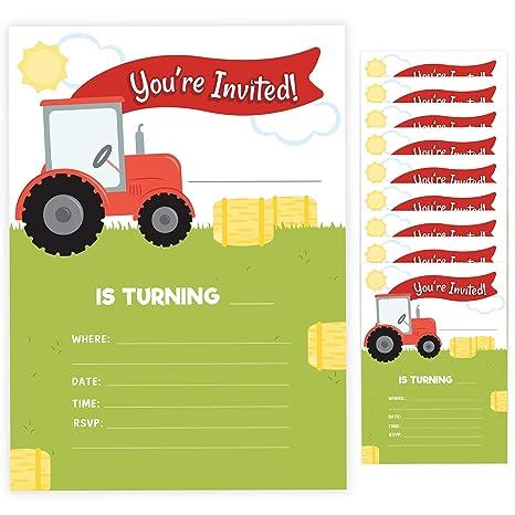 Tarjetas De Invitación Para Cumpleaños De Tractor 2 10