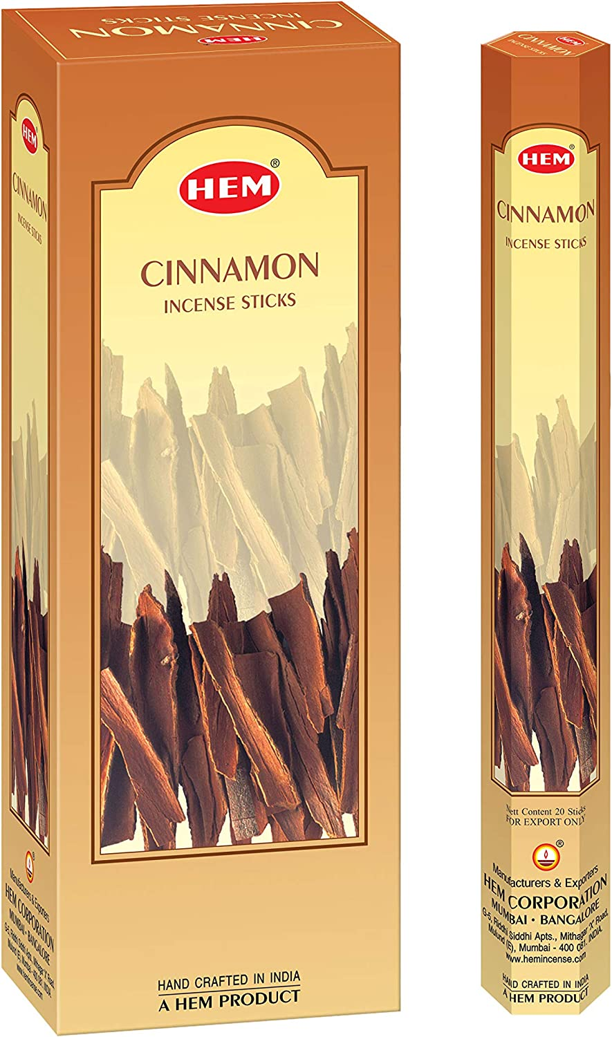 HEM Cinnamon Incense Sticks - Pack of 6 - 301g