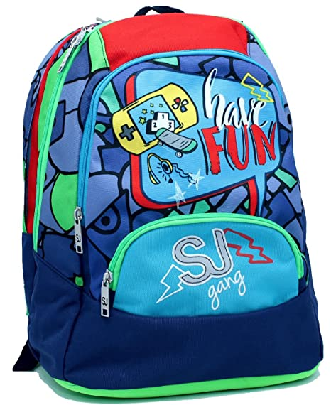 3651d90155 Zaino Tondo Maxi Blu SJ Boy Seven Seven: Amazon.it: Valigeria
