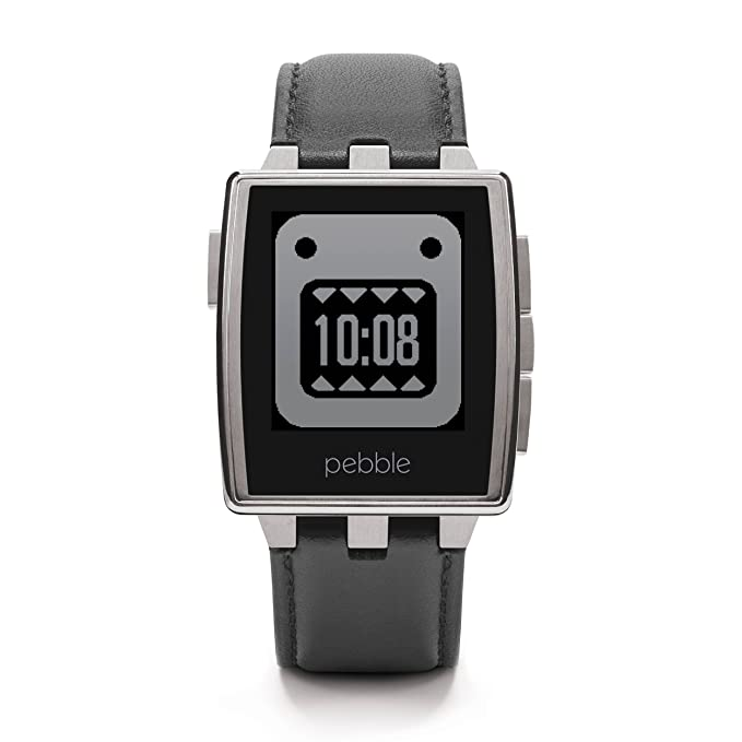 Pebble Montre intelligente en acier pour appareils iPhone et Android: Amazon.fr: High-tech