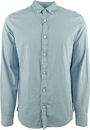 Michael Kors Camisa de manga larga para hombre, entallada ...
