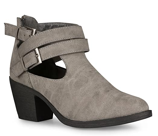 Women's Ellie Faux Leather Heeled Bootie