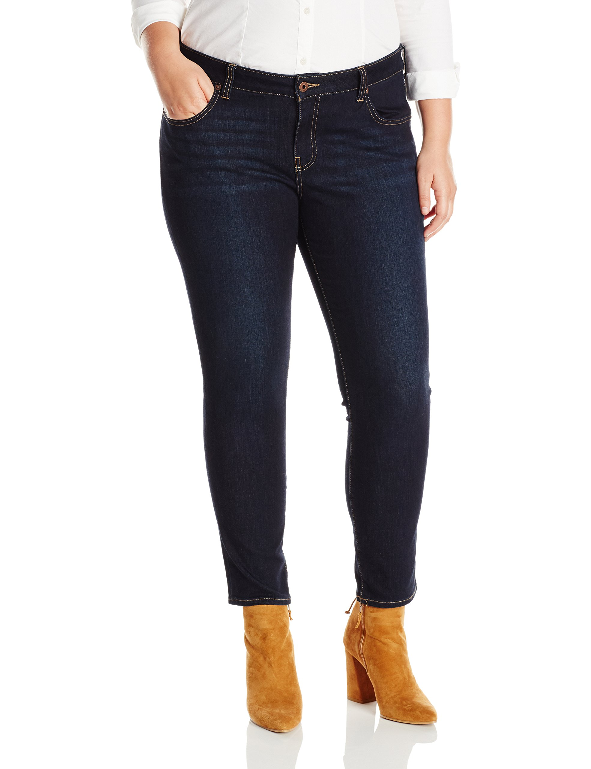 Lucky Brand Women's Plus Size Mid Rise Ginger Skinny Jean, El Monte, 16W