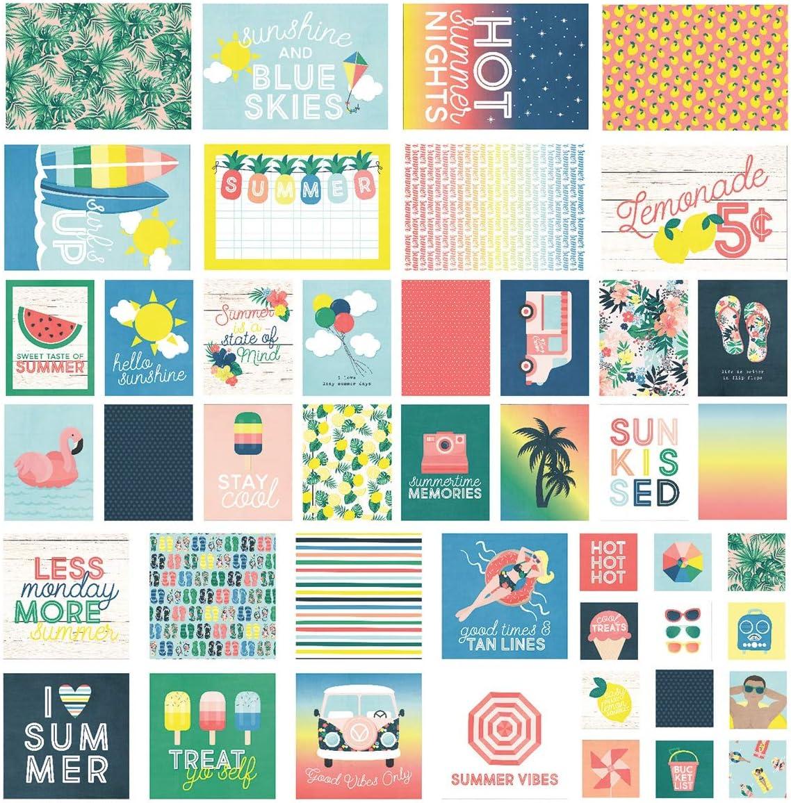 Simple Stories Sunshine /& Blue Skies SN@P Cards Carte su Entrambi i Lati Multi medium