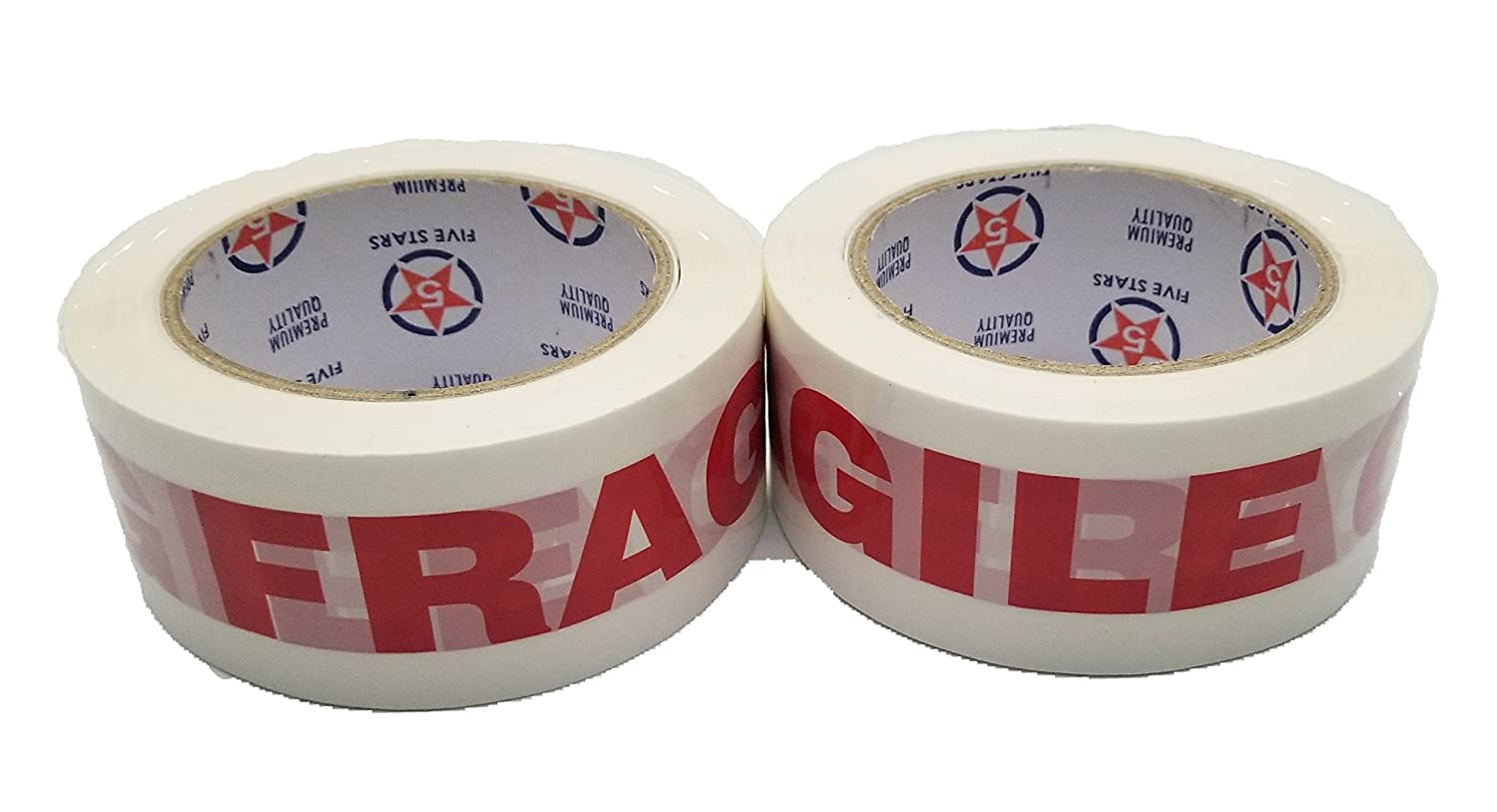 2 Roll Warning Fragile Tape-Handle with Care Packing Box Care Packing Sealing Tape Printing Security Tape-2 Inch x 330 Feet (110 Yards) BUNFIREs