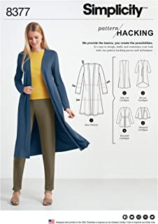 product image for Simplicity Hacking Women's Cardigan Sewing Patterns, Sizes XXS-XXL