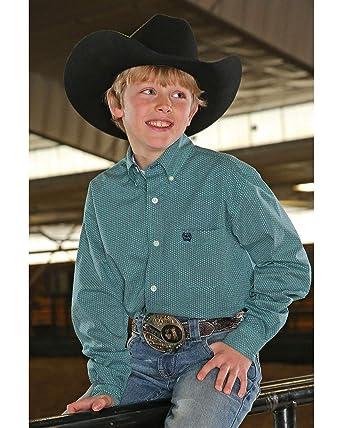 902042282 Amazon.com: Cinch Boys' Tea Geo Print Long Sleeve Western Shirt ...