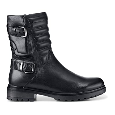 Cox Textil Biker Stiefel, schwarz Glattleder schwarz Boots