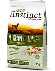 True Instinct Sans Céréales Adult Medium-Maxi Poulet Nourriture pour Chien 12 kg