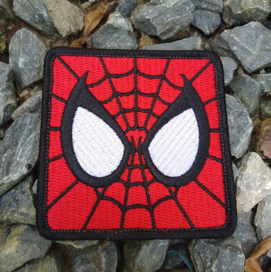 Hook and Loop Fasteners Avengers Spiderman Super Hero 7.5 cm LiZMS Tactical Patch