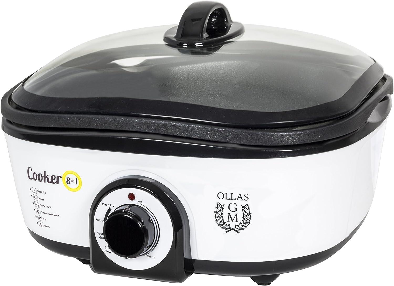 GM Robot de cocina Cooker 8 en 1, 5 litros, Plata: Amazon.es: Hogar